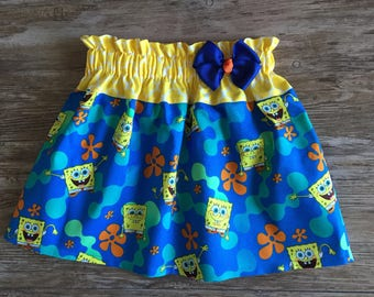 Sponge Bob Skirt, Skirt With The Sponge Bob, Skirt With Sponge Bob, Sponge Bob Under The Sea Skirt