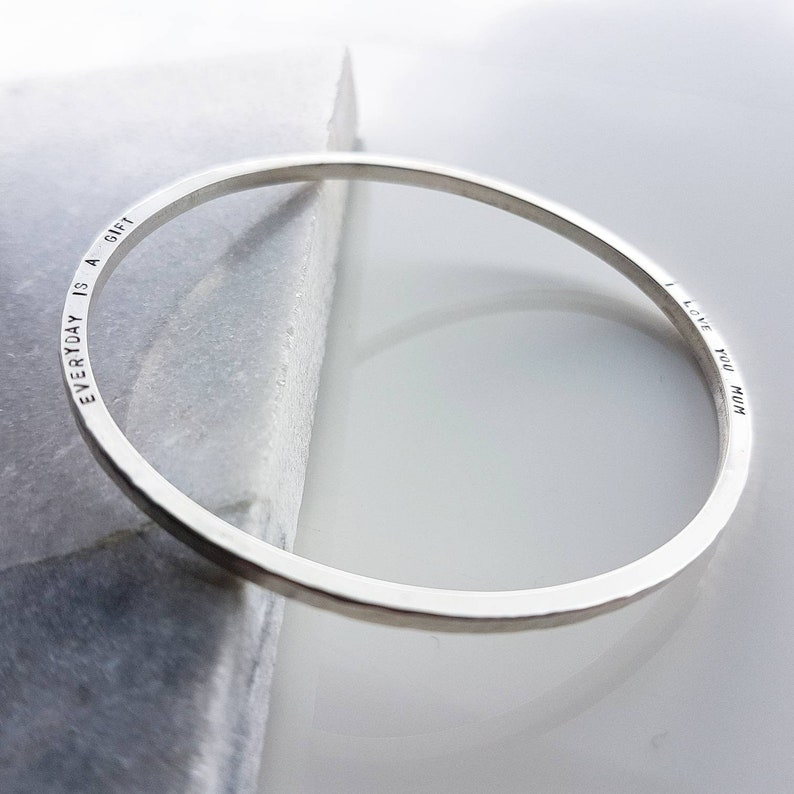 d352a3fc96e0f The Spica bangle- Personalised sterling silver with secret message
