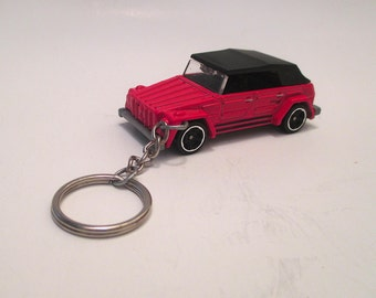 Car Keychain Volkswagen Thing, VW Thing Convertible Car, Sleutelhanger, Die Cast keychain, Mens or Womens keychain, Mens or Womens gift,