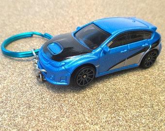 Subaru Impreza keychain, WRX STI, Sports Sedan, Die Cast keychain, Mens or Womens keychain gift, Fast and Furious, Subaru World Rally Team