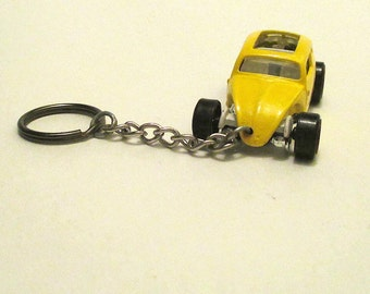 Volksrod VW Beetle keychain, Volkswagen keychain, VW beetle Hot Rot, Rat Rod, Mens or Womens keychain, Mens or Womens gift