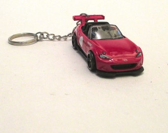 15 Mazda MX-5 Miata keychain Rally race car street racer,Gift for Mother,Mens or Womens keychain,gift,die cast cars
