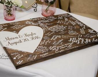 Alternative wedding guest book, wood guest book, wedding decor, guest book, Wedding guest book, Wedding guest book sign, Guest book ideas