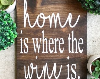 Home is where, Wood sign, Personalized wood sign, Rustic wood sign, Home decor, Kitchen decor
