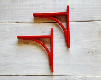Shelf Brackets Heavy Duty - set of 2 - Metal Shelf Brackets, Iron Shelf Brackets, Wood Shelf Brackets, Floating Shelves - Any Color