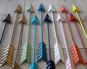Arrow Decor - Metal Arrow Wall Decor - Dorm Decor, Gallery Wall - Black Arrow Gold Arrow, White Arrow Coral Turquoise Teal Navy Gray Arrow