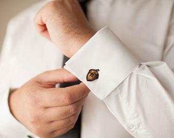 men accessories gift for men nature cufflinks men cufflinks GREEN LEAF CUFFLINKS Wedding Cufflink