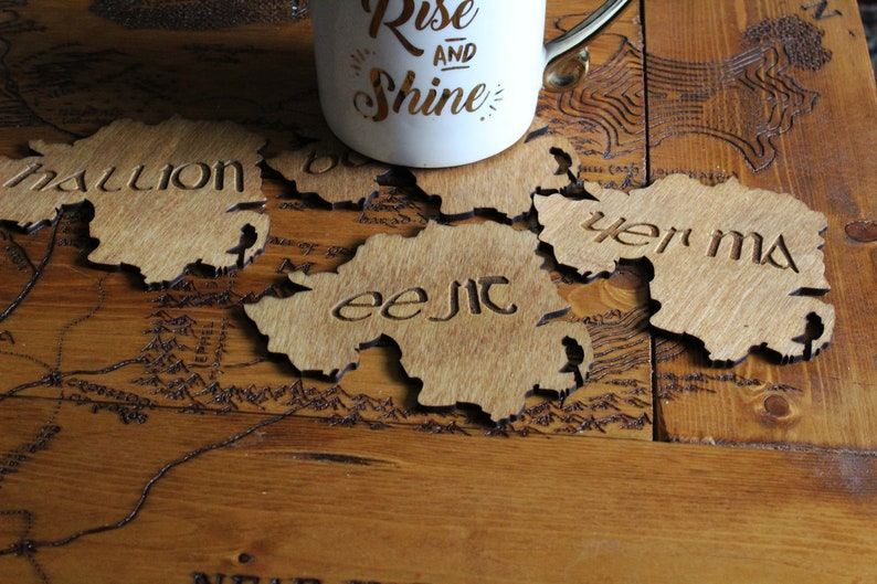 Northern Ireland slang Coasters funny belfast gift Wood Burning Pyrography  Rustic saying Gift Handmade Home quotes art decor irish ireland
