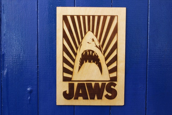 JAWS 1975 Vintage Movie Poster Steven Spielberg Film Art PrintA4 A3 A2 A1