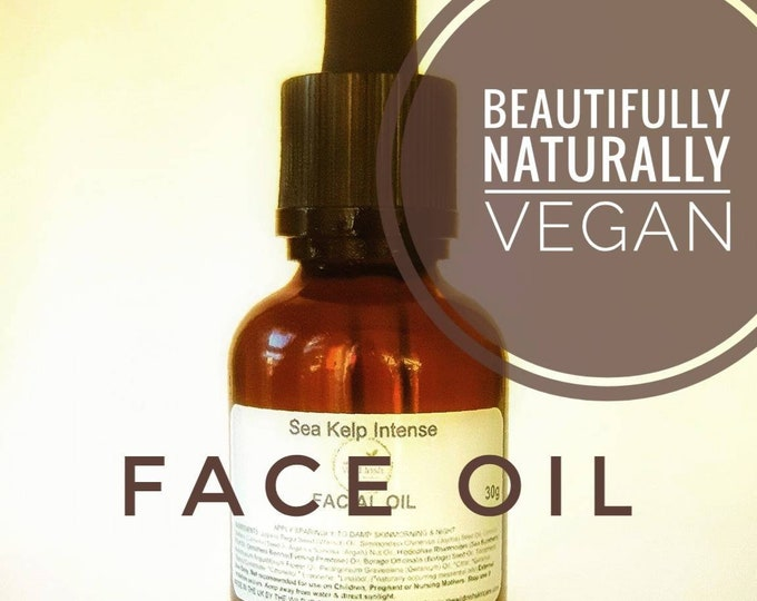 FACE Oil. Sea Kelp Sensitive/Oily/Mature. High Performance Oils. Natural Ingredients. Preservative Free.
