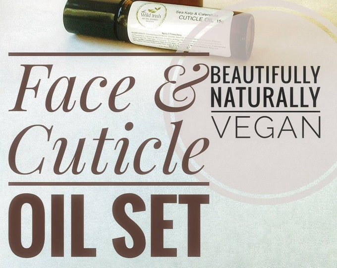 FACE & CUTICLE OIL Gift Set. Sea Kelp Intense. High Performance. Natural Ingredients. Preservative Free.
