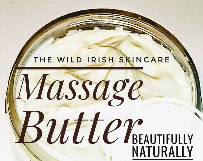 MASSAGE BUTTER.Vegan. Nut Free. Relax/Detox/Sports/Reflexology/Uplift.  Made with Organic Shea Butter and Seaweed Infused Oils