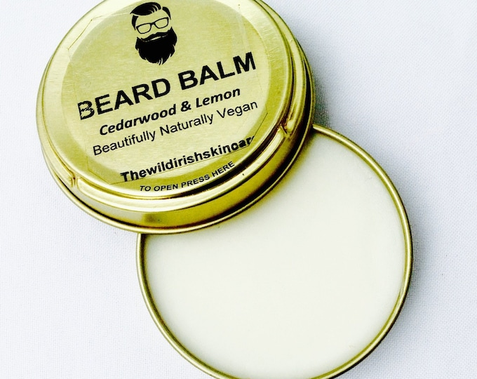 BEARD BALM. Vegan. With Lemon and Cederwood . 100% Natural.