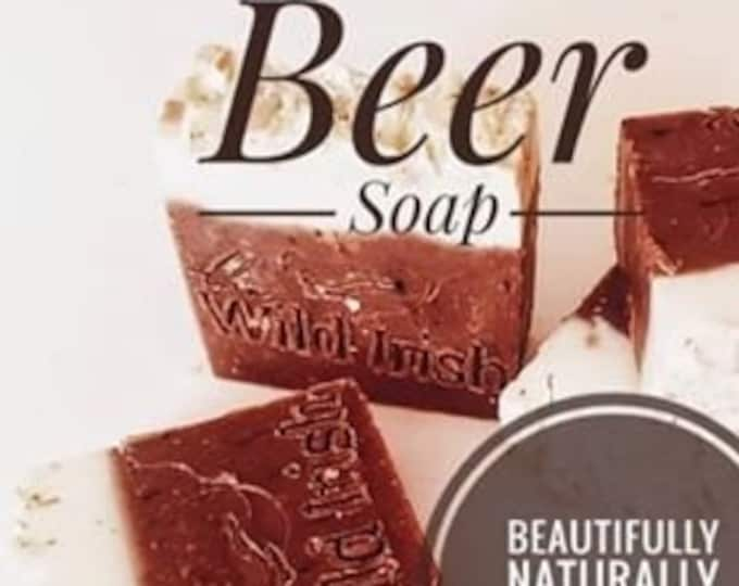 BEER SOAP. Vegan. Cold processed. With Raw Organic Shea Butter. No palm oil, artificial colours or scents.
