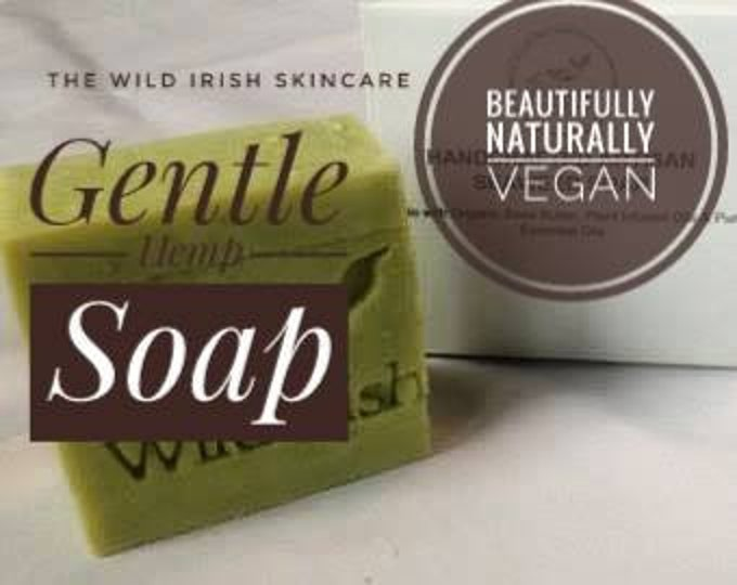 OILY SKIN SOAP. Hemp with Rosemary & Lemongrass.  Vegan. No palm oil,  artificial colours or scents.