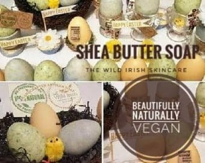 Shea Butter SOAP Egg shape, with Shea Butter, Lemongrass & Lavender. Vegan. No palm oil, artificial colours or scents.