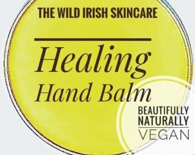 HAND BALM. Vegan. With Co Enzyme Q10,  Rosehip & soothing Calendula C02 extract. 100% Natural Ingredients.
