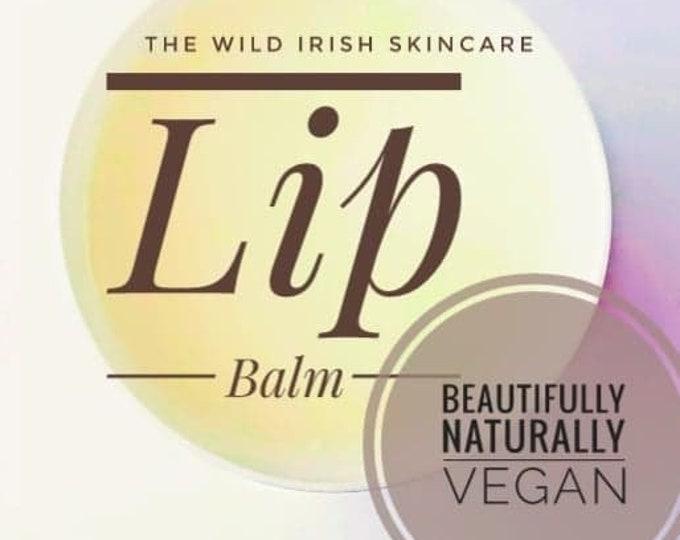 LIP BALM. Vegan. With Peppermint & Rose Geranium . 100% Natural.