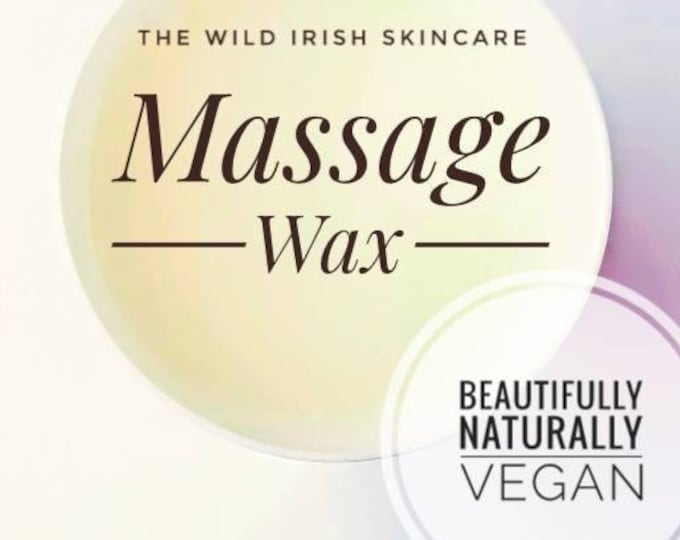 MASSAGE WAX. Nut Free.  Vegan. Natural Ingredients.