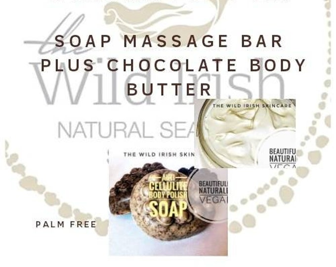 Gift Set. Body Butter & Massage Soap.Chocolate Seaweed. The Spa Collection. No Water Products. Made with Raw Organic Cocoa Butter.
