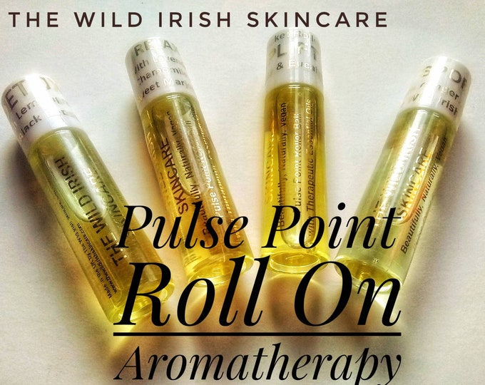 Gift Set.Pulse Point Roll On. 4 X 10 ml.  Relax, Detox, Sports, Uplift. Natural Perfume with Therapeutic Essential Oils