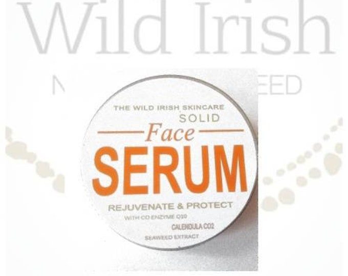 FACE Serum Solid with Anti Ageing Ingredients. CoEnzyme Q10, Frankinscence, Rosemary, Rosehip, Calendula C02 ext. 100% Natural.