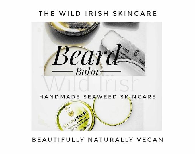 Vegan BEARD /Moustache Treatment. Solid BALM. Nut Free. Pure Essential Oils . 100% Natural.