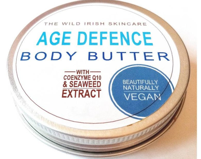 Age Defence Body Butter with Co Enzyme Q 10. Seaweed Infused . Natural and Organic Ingredients. Preservative Free.