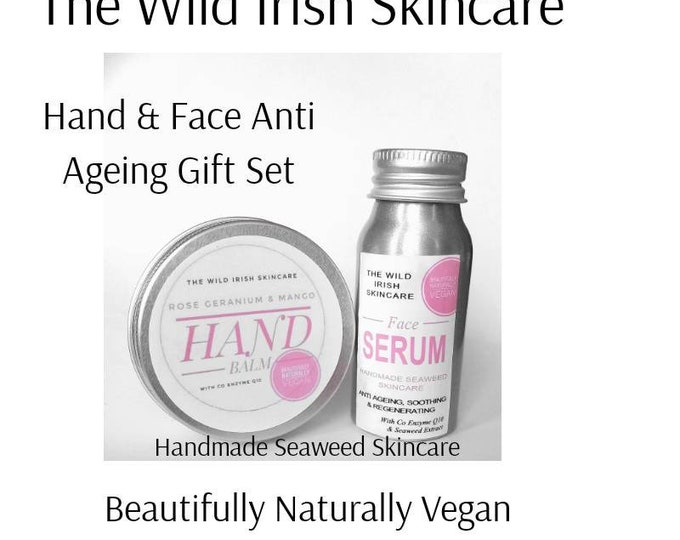 Gift Set Anti Ageing for Sensitive Skin. Sea Kelp Regeneration with Co Enzyme Q10 Natural Botannical Ingredients. Preservative Free.