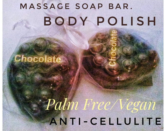 ANTI CELLULITE SOAP . Body Polish. Vegan.  Organic Raw Cocoa Butter/Coffee. No Palm Oil.