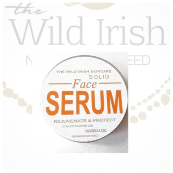 FACE, Lip Serum. Travel friendly. Solid with Anti Ageing Ingredients. CoEnzyme Q10, Frankinscence, Rosemary, Rosehip, Calendula C02 ext.