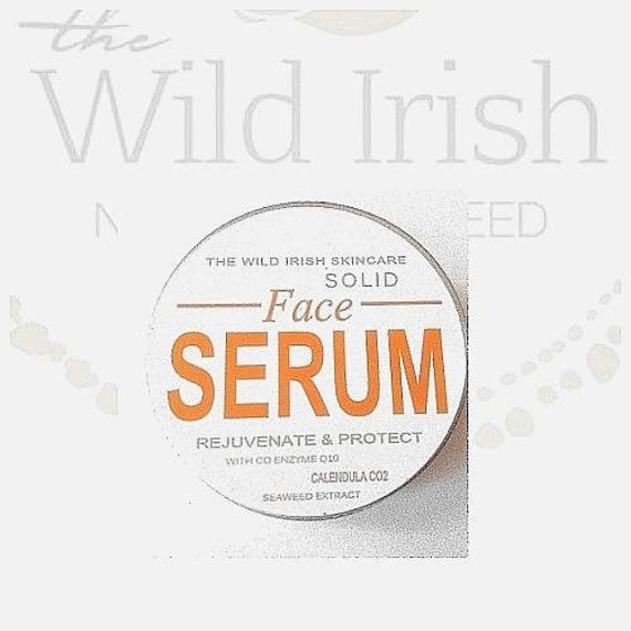 FACE Serum Solid. Vegan /Nut Free. With Co Enzyme Q10,  Rosehip & soothing Calendula C02 extract. 100% Natural and Organic Ingredients.