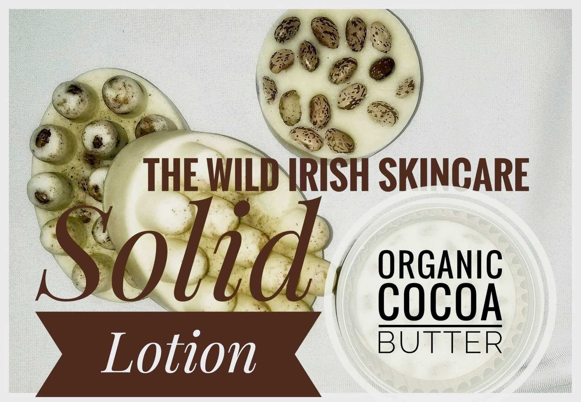 SOLID LOTION massage bar  Vegan  Organic Cocoa Butter, Natural