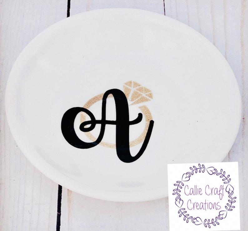 Monogram ring dish
