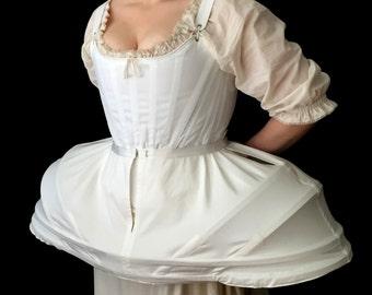 Full Pannier Marie Antoinette Plus Size , Costume themed wedding 18th century silhouette dress ensemble skirt support underwear cosplay