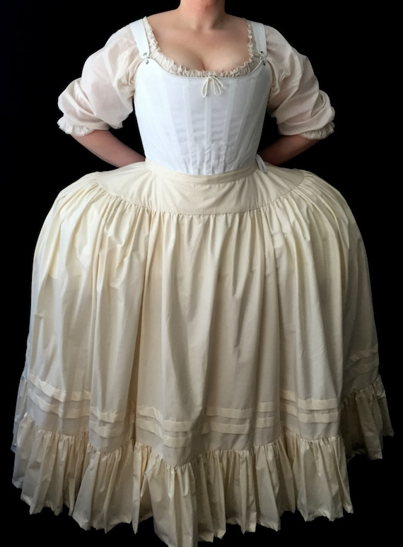 Marie Antoinette Full Figured 18th Century Petticoat Or