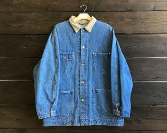 Vintage 90s Polo Ralph Lauren Denim Coat