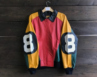 Vintage 90s Cognac Leather Jacket