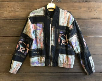 Vintage 80s/90s Quilted Bomber Jacket