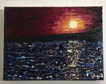Sunset- Seascape - Oil on Canvas