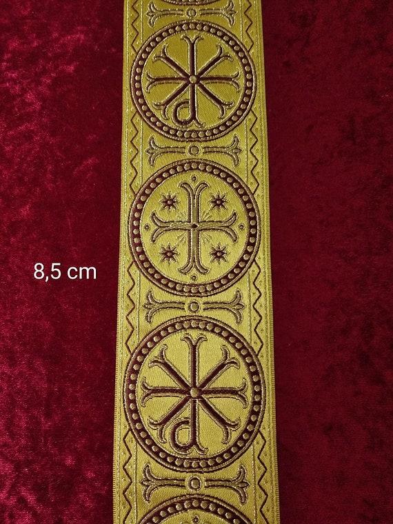 Cyprus jacquard Church liturgical vestment galloon trim GA-35