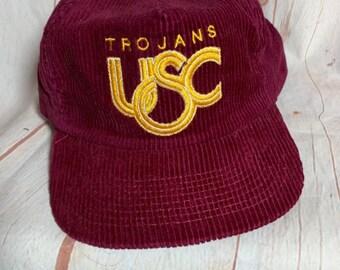 Vintage Corduroy Usc Trojans COLLEGE HAT e69f72a02002