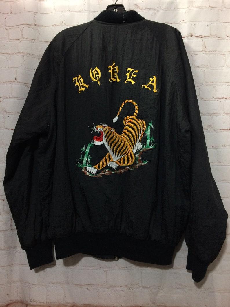 9dadd15373 AMAZING 1980S Vintage Souvenir Tour Jacket Zip-up Korea