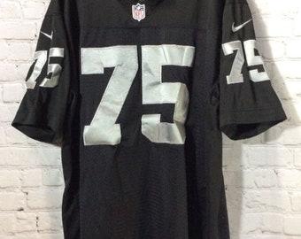 Vintage Nike Raiders Nfl Football Jersey W/  Howie Long #75