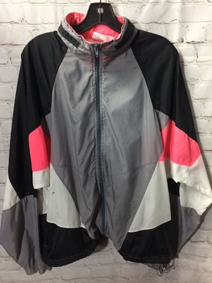 Nike Windbreaker Dayglow Colorblock with hideaway hood grey  fe5831321