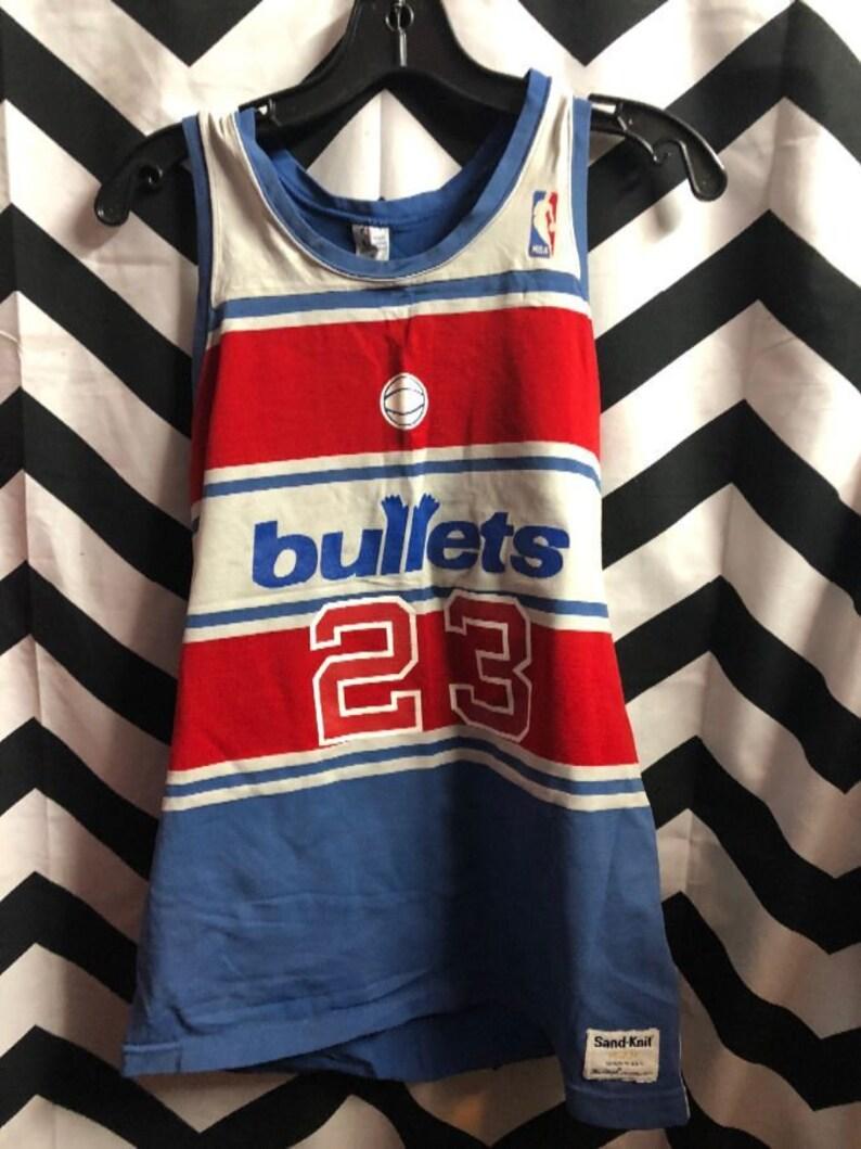 cb383ec50488a Vintage Nba Washington Bullets Basketball Jersey #23