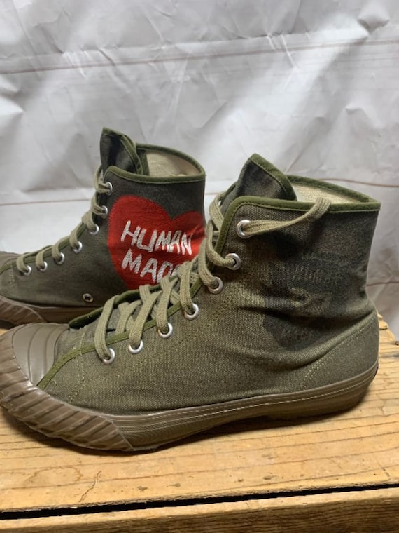 Human Made Army Green Military Canvas Water Shoes