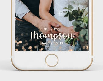 rose gold glitter wedding snapchat filter,  rose gold wedding geofilter, rose gold snapchat filter, custom geofilter, custom snapchat filter