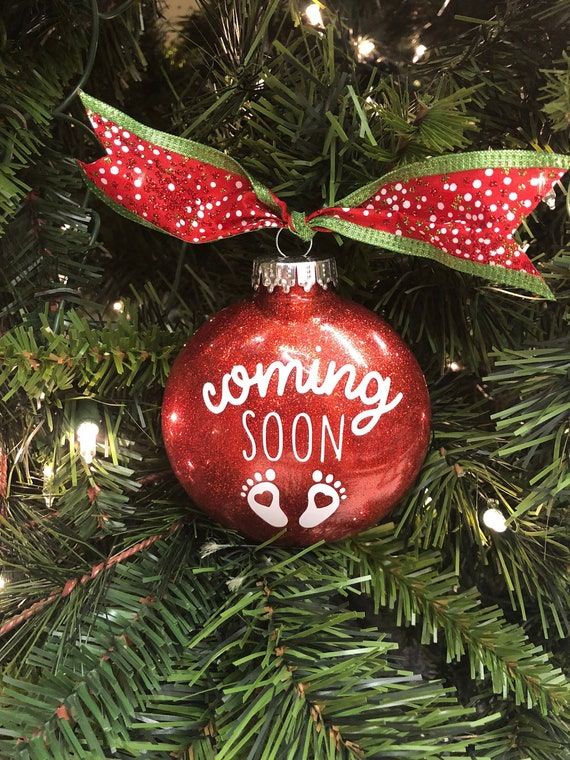 Pregnancy Announcement Ornament Christmas Pregnancy | Etsy