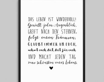 Art print to the wedding the life is wonderful